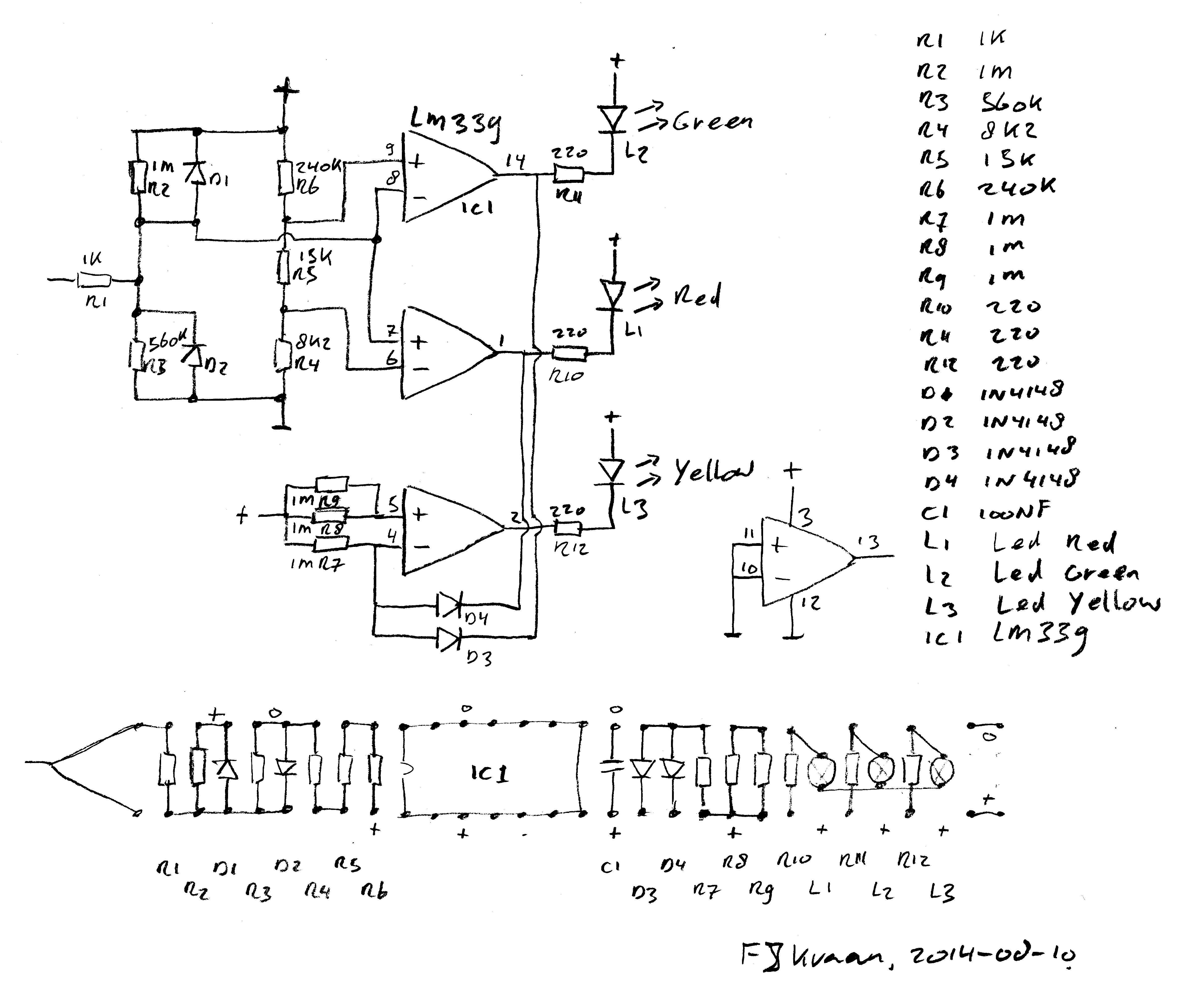 Ttl Level Probe Logic Circuit Diagram A Reverse Engineered Component List And Board Layout